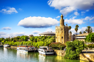 Golden Tower on the Guadalquivir river, Seville
