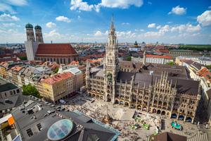 Town Hall and Marienplatz in Munich, Germany