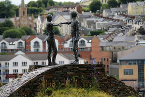 Hands Across the Divide peace statue in Derry (Londonderry), Northern Ireland