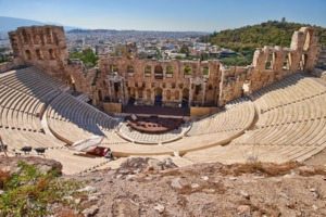 Ancient theatre under the Acropolis, Athens