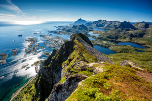 Aerial view of Svolvaer, Norway