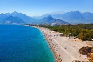 Beach in Antalya, Turkey