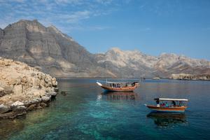 Fjords near Khasab on the Musandam Peninsula, Oman