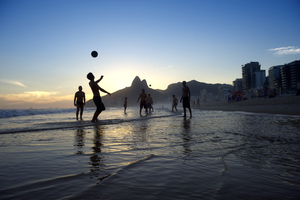 Rio de Janeiro - Football on Ipanema beach