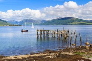 Port Bannatyne on the Isle of Bute, Scotland