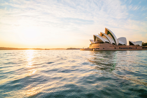 Sunrise over Sydney harbour, Australia