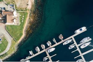 Aerial view of Craobh Haven, Scotland
