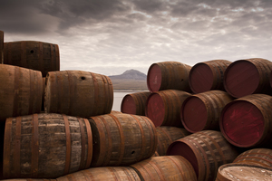 Whisky barrels on Islay, Scotland