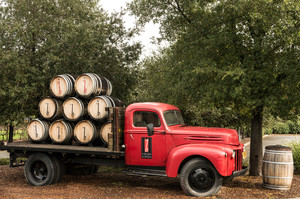 Truck in the Napa Valley, California