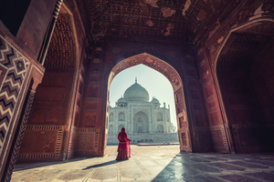 Woman at the Taj Mahal, Agra