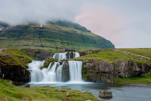 Kirkjufellsfoss waterfall near Grundarfjordur, Iceland