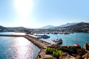 Boats in port of Bodrum, Turkey