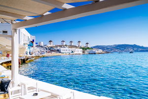 Harbour in Mykonos, Greece