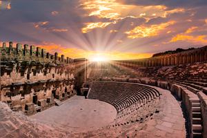 Aspendos amphitheatre near Antalya, Turkey