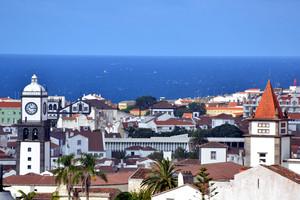 Skyline of Ponta Delgada, Azores
