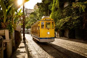 Bonde tram in Santa Teresa, Rio de Janeiro