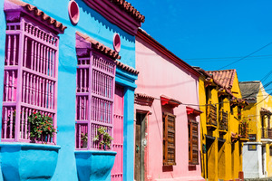 Streets of Getemani in Cartagena, Colombia