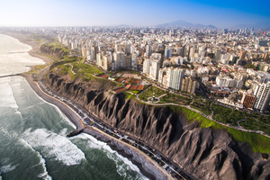 Miraflores cliffs in Lima, Peru
