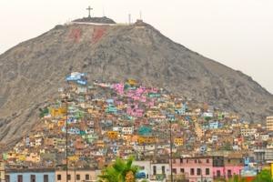 Barrio on a hill, Lima, Peru
