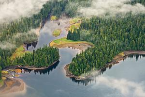 Aerial view of Misty Fjords, Alaska