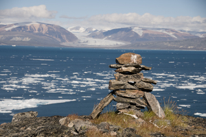Inukshuk on Baffin Island, Canada