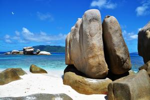 Rocks on Cousin Island, Seychelles