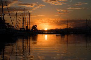Sunset over Suva, Fiji