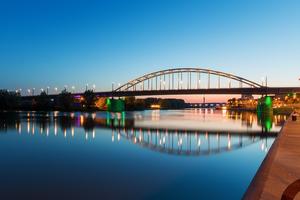 John Frost Bridge in Arnhem, Netherlands
