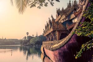 Kandawgyi Lake, Yangon, Myanmar