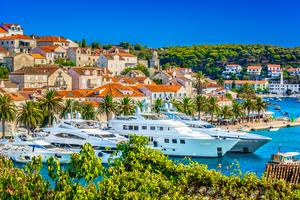 Yachts in Hvar, Croatia