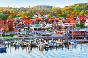 Old town pier in Travemunde, Germany