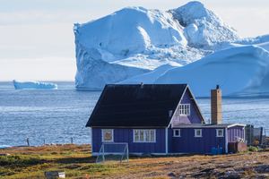 House on Disko Bay, Greenland