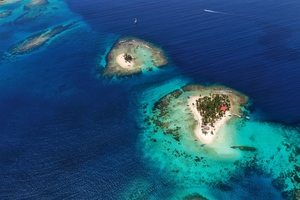 Aerial view of San Blas islands, Panama