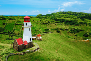 Mahatao Tayid lighthouse in Batanes, Philippines