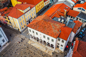 Aerial view of Koper old town, Slovenia