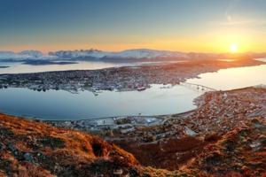 Sunset over Tromsø, Norway