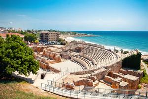 Roman amphitheatre in Tarragona, Spain