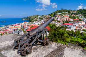 Cannon overlooking St George's, Grenada