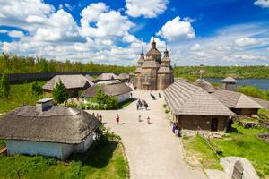 Cossack fortress on Khortytsya island, Zaporozhye, Ukraine