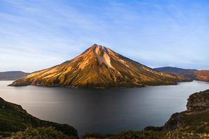 Krenitsyn volcano on Onekotan island, Russia