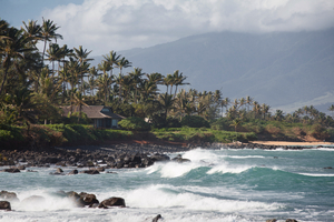 Beach near Kahului, Maui, Hawaii