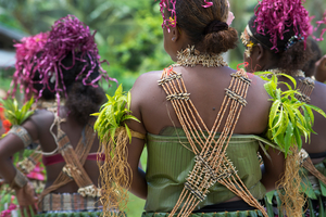 Traditional dance in Santa Ana, Solomon Islands
