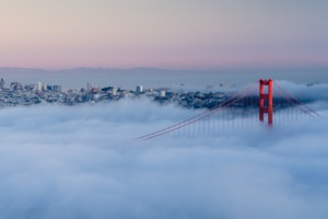A misty morning in San Francisco