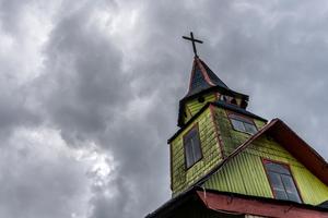 Quemchi church, Chiloe Island, Chile