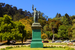 Juan Martinez de Rozas monument in Concepcion, Chile