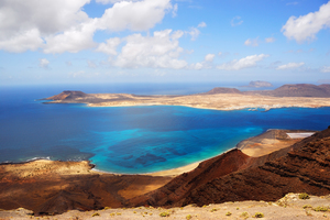 View of Graciosa island from Lanzarote