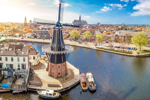 Windmill in Haarlem, Netherlands
