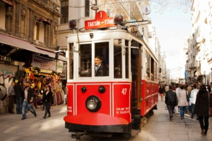 Tram in Istiklal Avenue, Istanbul