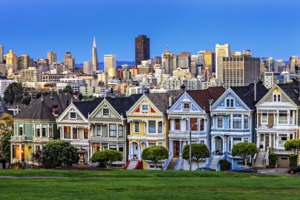 View of San Francisco from Alamo Square