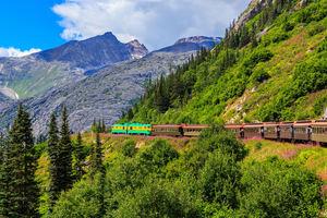 Yukon Route railway, Skagway, Alaska